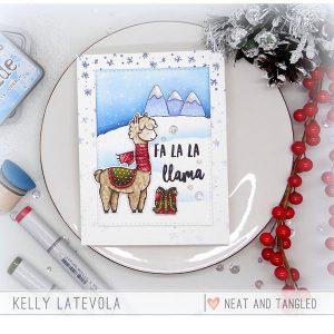 Neat & Tangled Fa La Llama Die Set class=