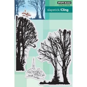 Penny Black Snowy Village Slapstick/Cling Stamp