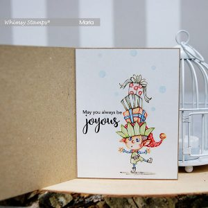 Whimsy Stamps Balancing Elf Stamp class=
