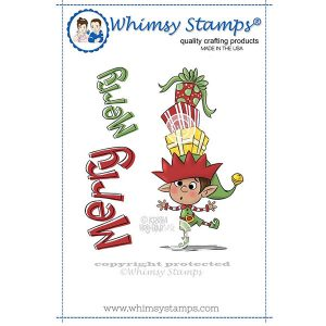 Whimsy Stamps Balancing Elf Stamp