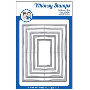 Whimsy Stamps Hand Stitched Nested Rectangles Die Set