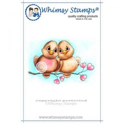 Whimsy Stamps Love Birds Stamp