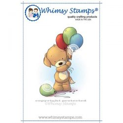Whimsy Stamps Puppy with Balloons Stamp