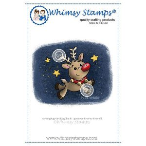 Whimsy Stamps Reindeer Magic Stamp
