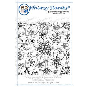Whimsy Stamps Snow Flurry Background Stamp