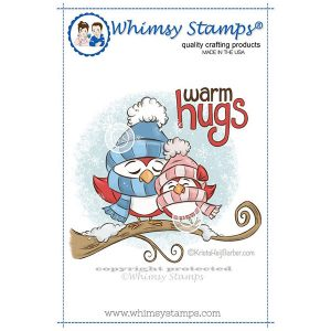 Whimsy Stamps Warm Hugs Birds Stamp Set