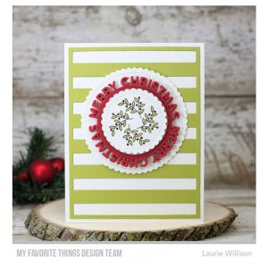My Favorite Things Merry Christmas Circle Frame Die-namics class=