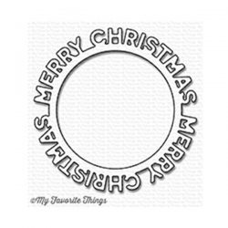 My Favorite Things Merry Christmas Circle Frame Die-namics
