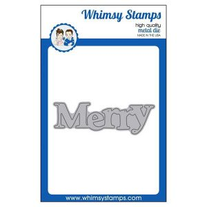 Whimsy Stamps Merry Large Word Die