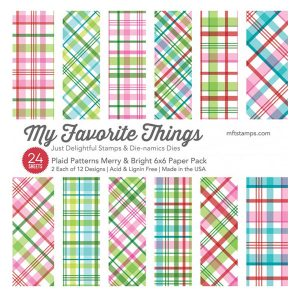 My Favorite Things Plaid Patterns Merry & Bright Paper Pack class=