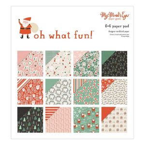My Mind's Eye Oh What Fun! Paper Pak – 6″ x 6″