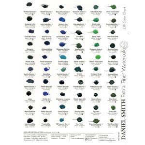 Daniel Smith Extra Fine Watercolor 240-Dot Color Chart class=