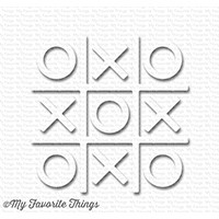 My Favorite Things Tic Tac Toe - White