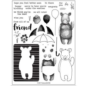 Concord & 9th Hi There Bear Stamp Set