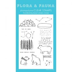 Flora & Fauna Arctic Starry Night Stamp Set
