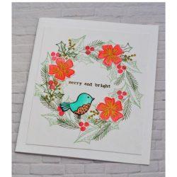 Flora & Fauna Floral Happy Holidays Stamp Set