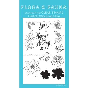 Flora & Fauna Floral Happy Holidays Stamp Set