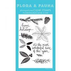 Flora & Fauna Poinsettia Watercolor Stamp Set