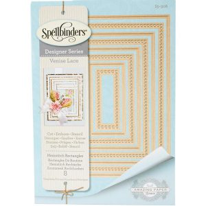 "Spellbinders Venise Lace-Hemstitch Rectangles <span style=""color:orange;"">Pre-Order, expected soon</span>"