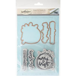Spellbinders Merry & Bright 2017 Stamp & Die Set class=