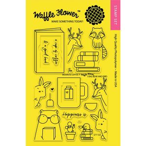 Waffle Flower Books & Coffee Stamp Set