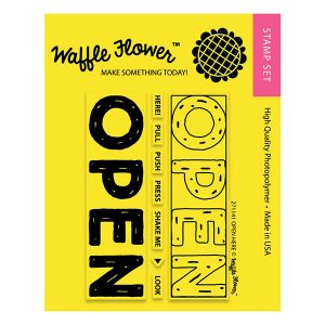 Waffle Flower Open Here Stamp Set