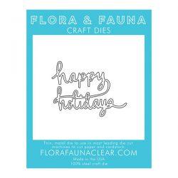 Flora & Fauna Happy Holiday Die