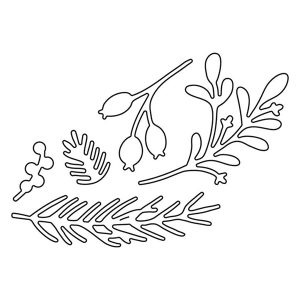 Flora & Fauna Holiday Foliage Die Set class=