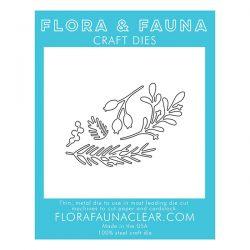 Flora & Fauna Holiday Foliage Die Set