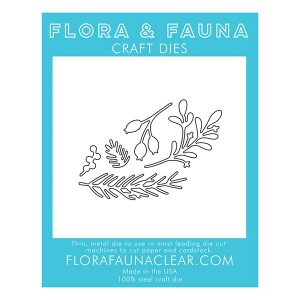 Flora & Fauna Holiday Foliage Die Set