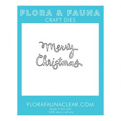 Flora & Fauna Merry Christmas Curly Die