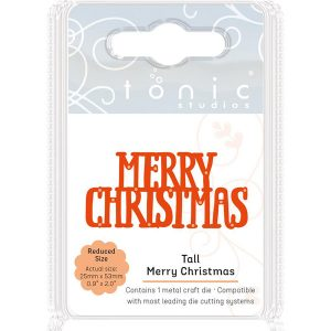 Tonic Studios Tall Merry Christmas Die class=