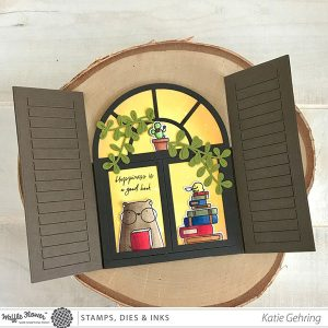 Waffle Flower Books & Coffee Stamp Set class=