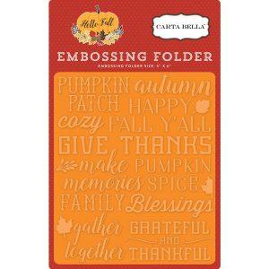 Carta Bella Give Thanks Embossing Folder