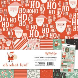 """My Mind's Eye Oh What Fun! Paper & Accessories Kit - 12""""x12"""""""