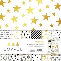 "My Mind's Eye Joyful With Gold Foil - 12""x12"""