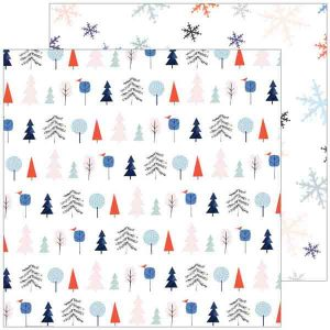 "Pinkfresh December Days Festive Trees - 12"" x 12"""