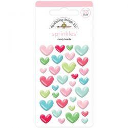 Doodlebug Sprinkles Candy Hearts Enamel Shapes