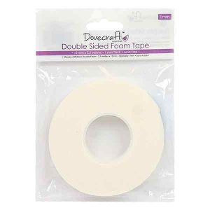 "Dovecraft 1/2"" wide Double-Sided Foam Mounting Tape - 1mm thick"