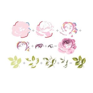 Altenew Build A Flower: Rose Stamp & Die Set class=
