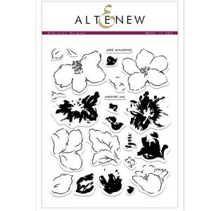 Altenew Hibiscus Bouquet Stamp Set