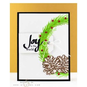 Altenew Poinsettia & Pine Stamp Set class=