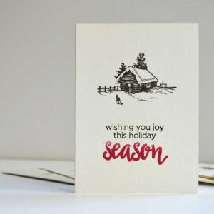 Altenew Winter Cottage Stamp Set class=