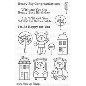 My Favorite Things Town Bear Stamp Set