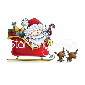 Stamping Bella Santa and His Reindeer Stamp