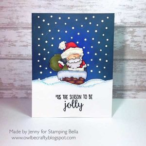 Stamping Bella Santa and His Chimney Rubber Stamp class=