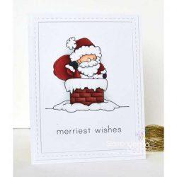 Stamping Bella Santa and His Chimney Die
