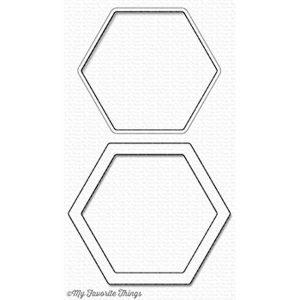 My Favorite Things Die-namics Hexagon Shaker Window & Frame