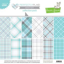 """Lawn Fawn Perfectly Plaid Winter Paper Pack - 12"""" x 12"""""""