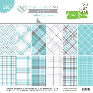 "Lawn Fawn Perfectly Plaid Winter Paper Pack - 12"" x 12"""